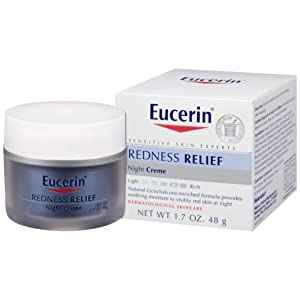Eucerin Redness Relief Night Creme - Gently Hydrates To Reduce Redness-Prone Skin At Night - 1.7 oz Jar