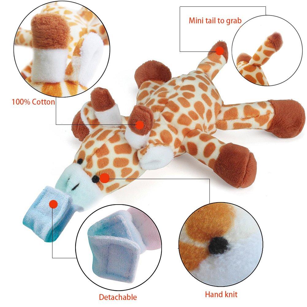 Amazon.com: UDS - Chupete para bebé, soporte para jirafa con ...