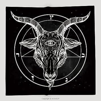 Amazon Custom Pentagram With Demon Baphomet Satanic Goat Head