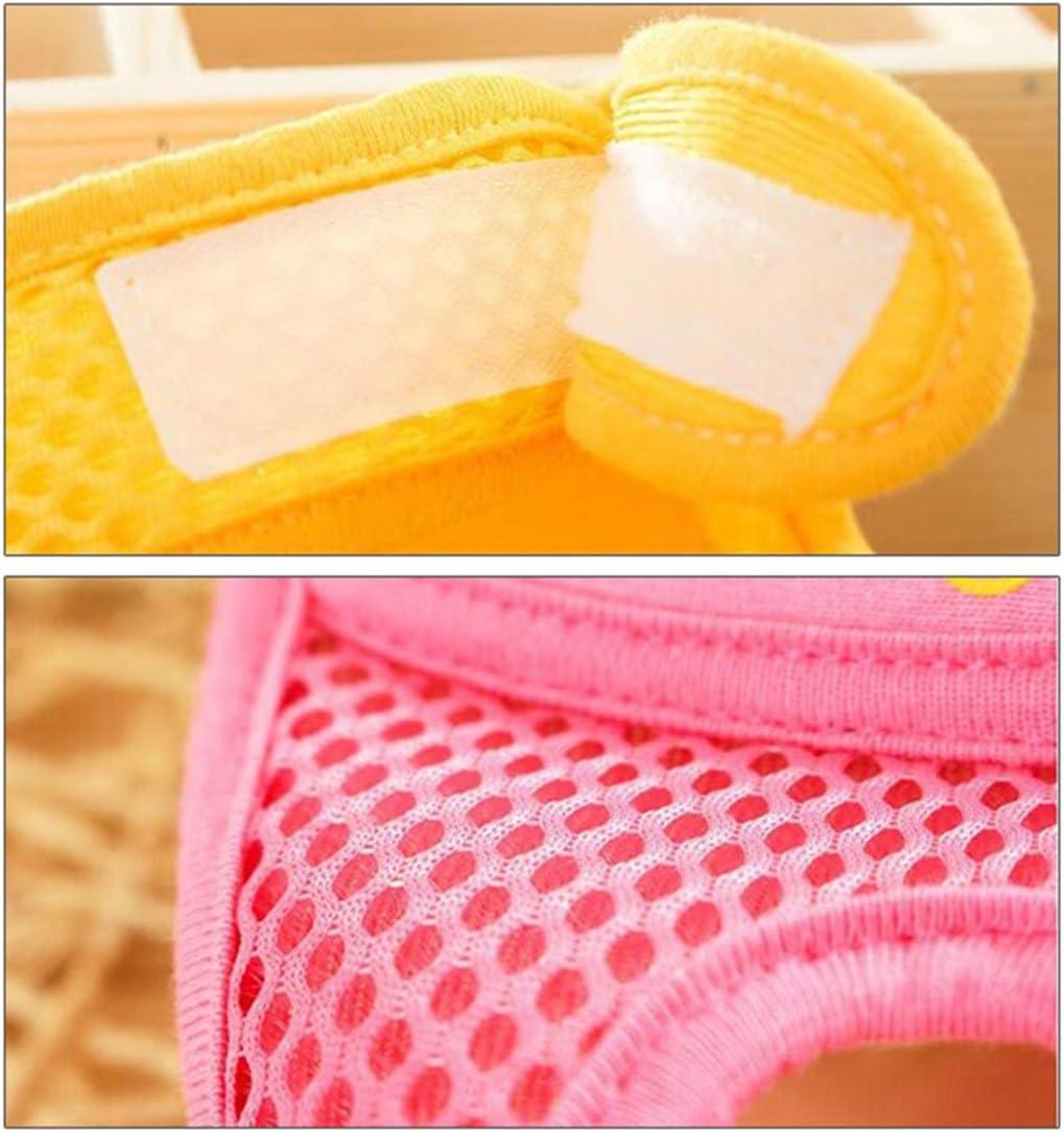 YUENA CARE 1Par Rodilleras de Gateos Ajustables Transpirables Prevenir lesiones para Seguridad de Beb/é Durante 0-5 A/ños Unisex Amarillo