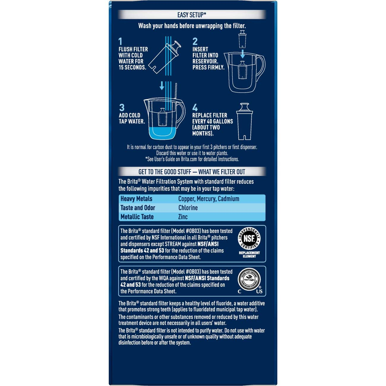 Brita 35557 Water Pitcher Replacement Filters, White-6 pk, 6ct 6ct by Brita (Image #10)
