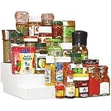 Disha Plastic Kitchen Cupboard Space Organizer, 29x23x10cm, Ivory
