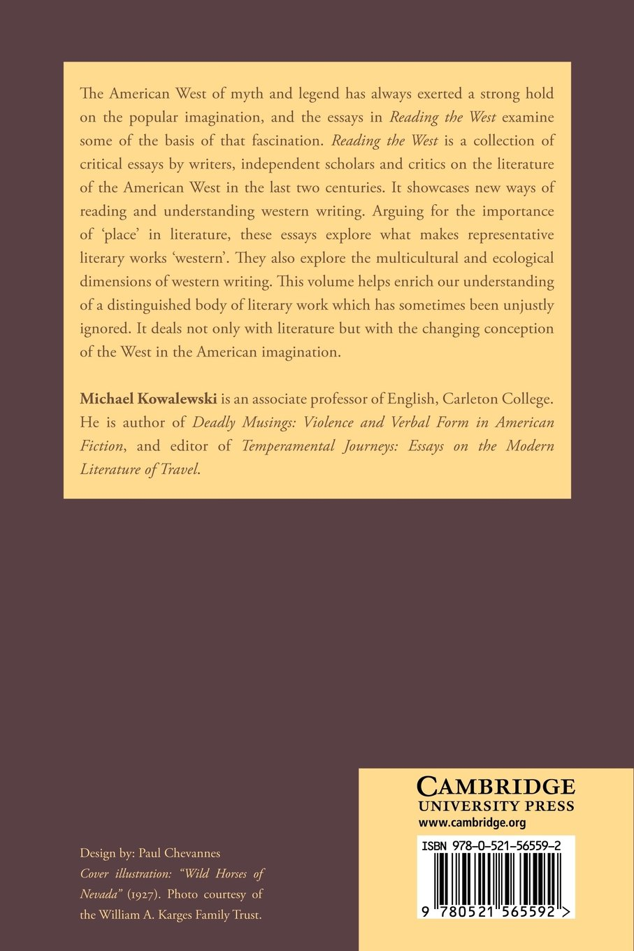 com reading the west new essays on the literature of the com reading the west new essays on the literature of the american west cambridge studies in american literature and culture 9780521565592