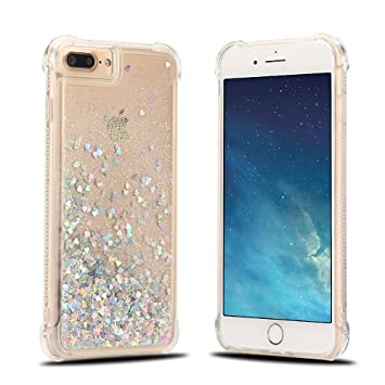 coque iphone 8 plus paillette liquide silicone