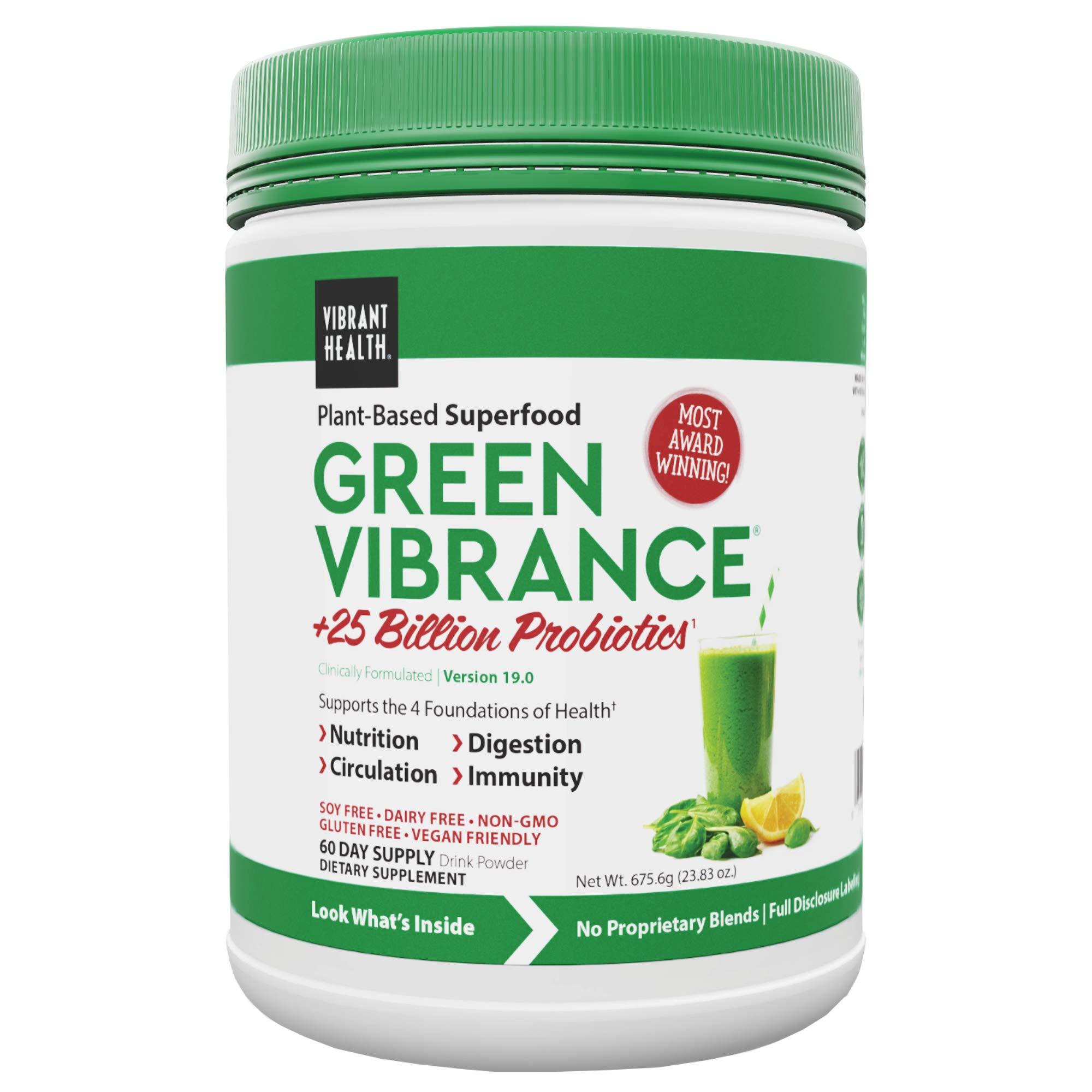 Vibrant Health, Green Vibrance, Vegan Superfood Powder, 60 Servings (FFP)