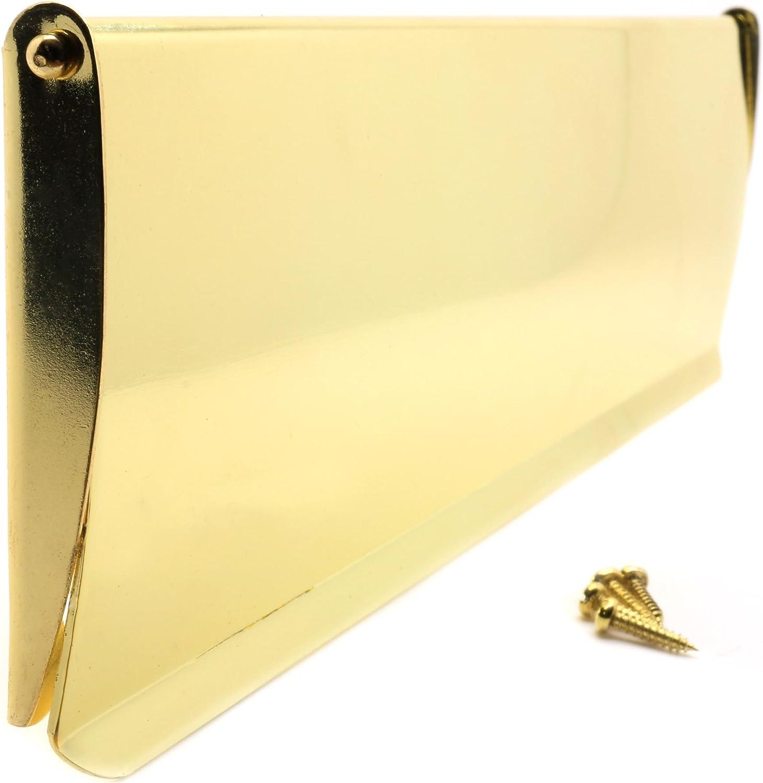 bietet Schutz vor Zugluft Briefkasten-Klappe aus poliertem Messing