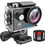 EKEN H9R Wifi 4k Action Camera Sport Impermeabile con 2 batteria + Charging dock + bastone selfie (Black)