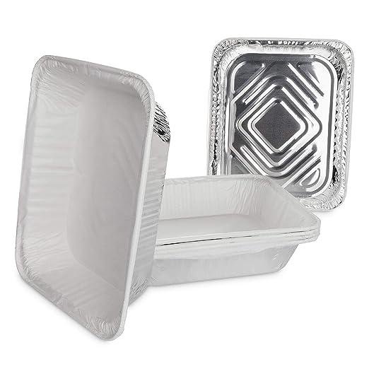Life Story Bandejas de Aluminio Desechables con Papel de Horno ...