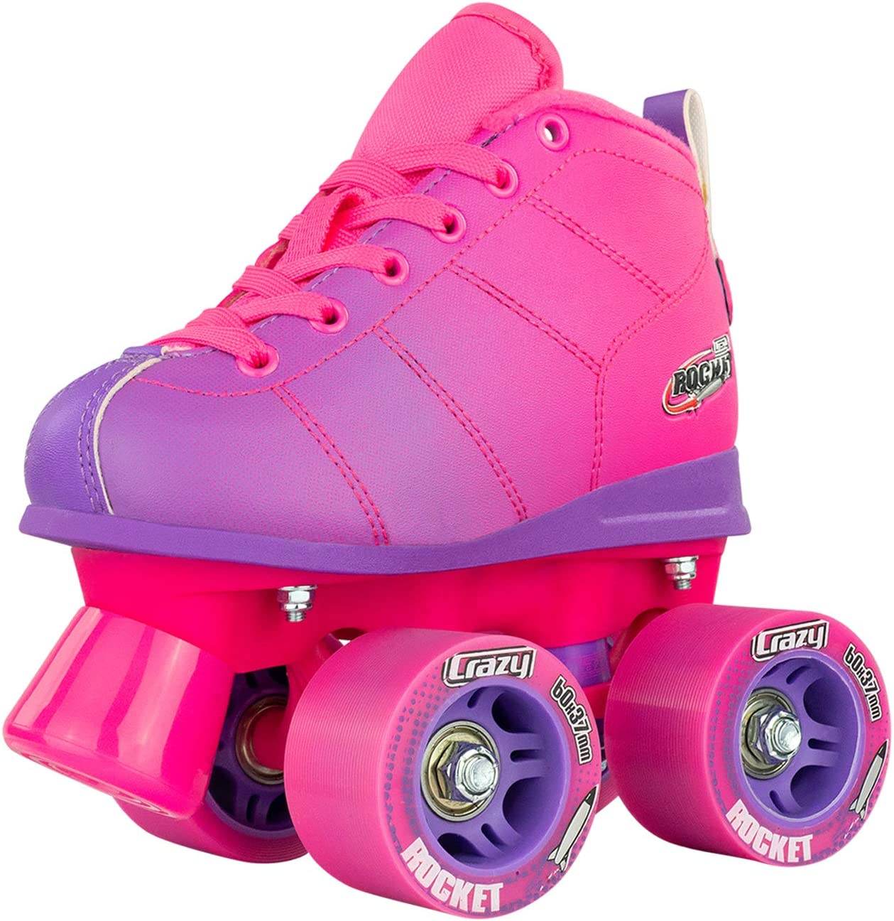 Crazy Skates Rocket Roller Skates for Girls and Boys – Great Beginner Kids Quad Skates – Available in Two
