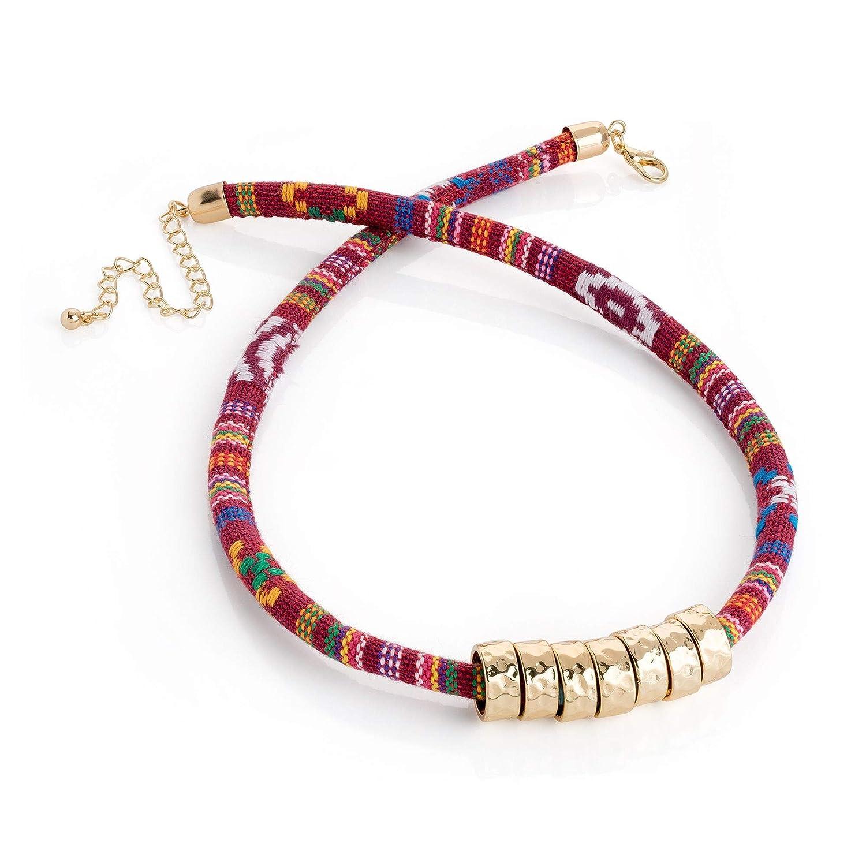 Venta: disfraz de serpiente joyas: Rose-Gold rojo collar de cordón ...