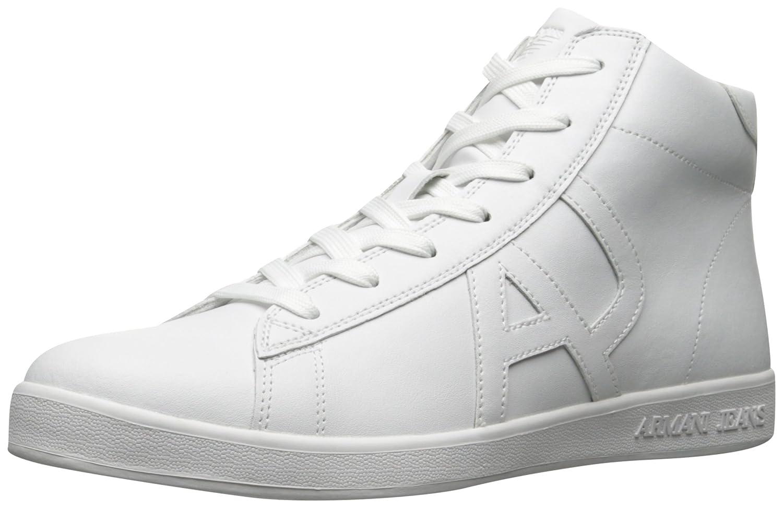 ARMANI JEANS Men's Leather High Top Fashion Sneaker B06Y1C928D Sneakers Fashion Sneakers B06Y1C928D c12006