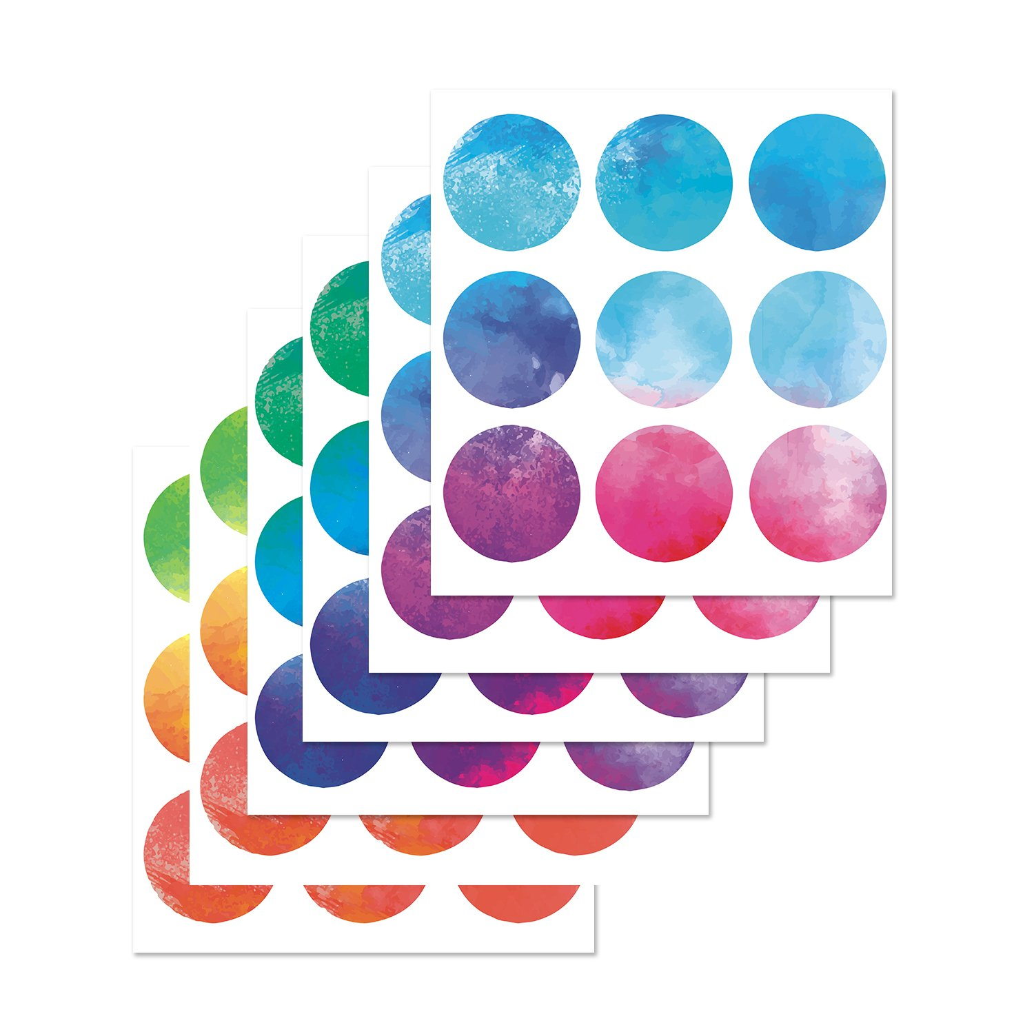 Parlaim vinyl multi color wall decor stickers circles removable polka dots wall decal with gift packaging for kids roomliving roombedroom multicolor3