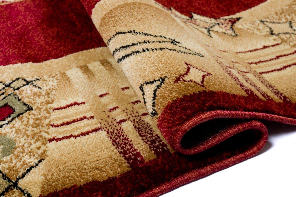 WE LOVE RUGS CARPETO CARPETO CARPETO Läufer Teppich Flur - Dicht Gewebt Teppichläufer - Läufer nach Maß -KIRTAN Kollektion - Weinrot Beige - 80 x 600 cm B079CL9KHS Lufer 4a79ed
