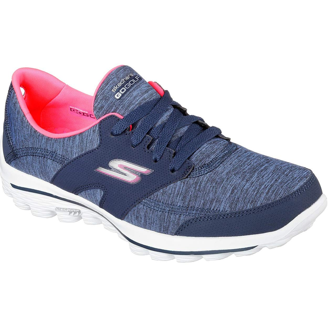 Skechers Performance Women's Go Walk 2 Backswing Golf Shoe,Navy/Pink,9 M US