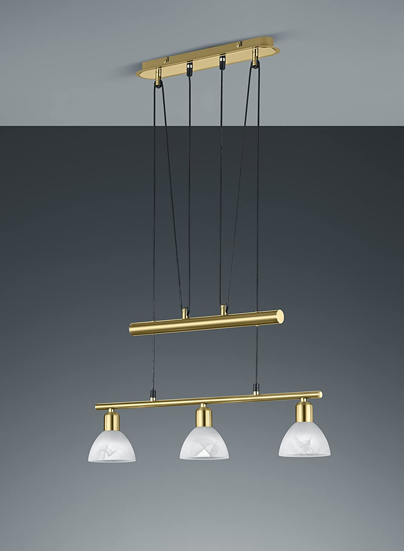 Trio Leuchten LED-JoJo-Pendelleuchte Levisto in Nickel matt Glas alabasterfarbig wei/ß 371010407
