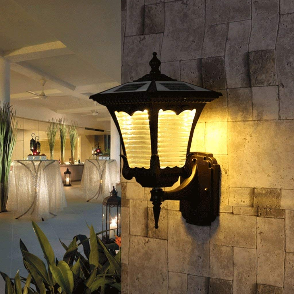 Chuiqingwang 家族屋外屋外テラスソーラーライト防水ウォールランプウォールランプ (Color : Warm White) B07S67X38G Warm White