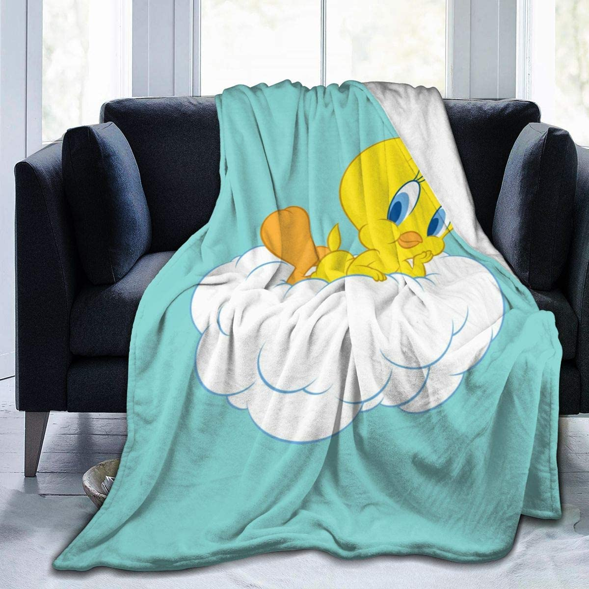 Tweety Bird Sherpa Bed Blanket