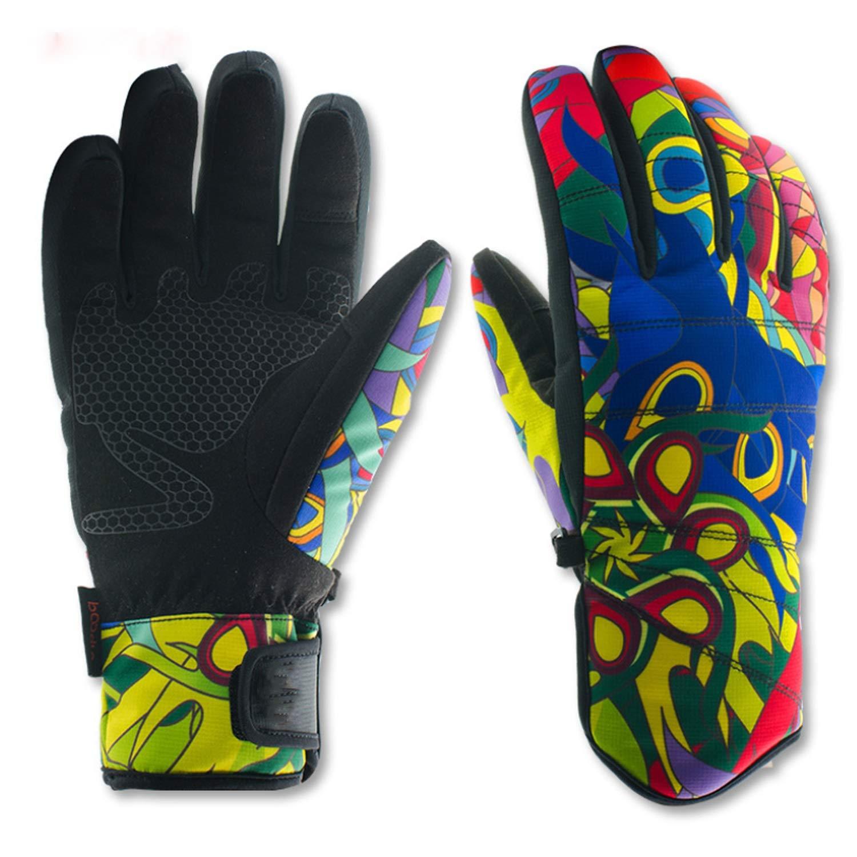 Easy Go Shopping Gants de Ski Gants de Protection Thermique imperméables pour Hommes Gants de Snowboard pour Hommes (Color : Blue, Size : S)