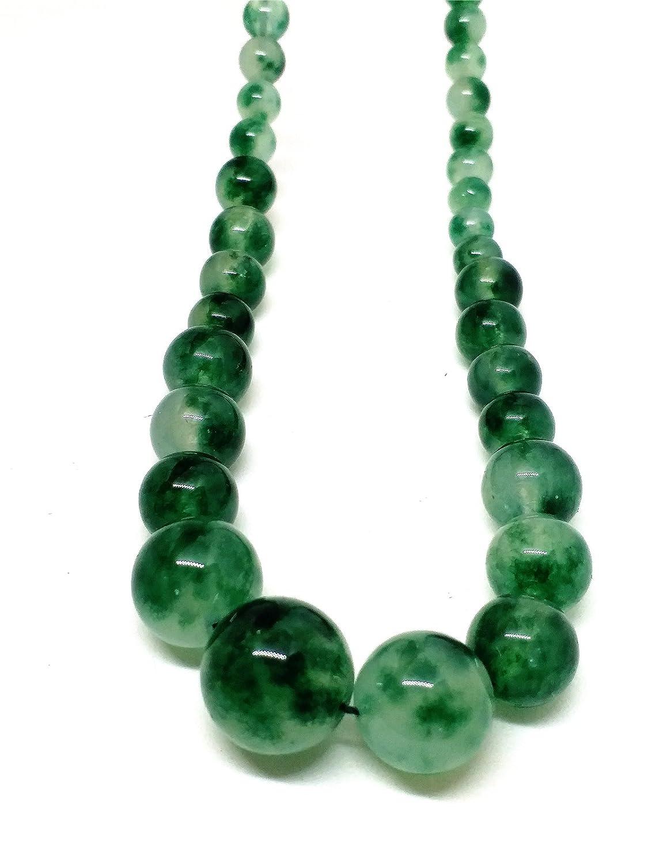 Natural JADE Jadeite Bead Flower Necklace