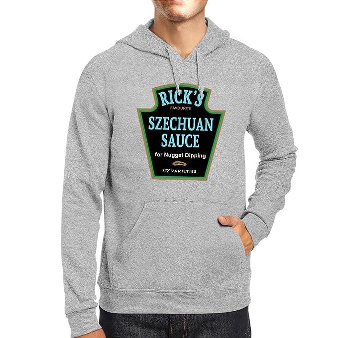Ricks Favourite Mulan Szechuan Dipping Sauce Rick And Morty Mens Hooded Sweatshirt