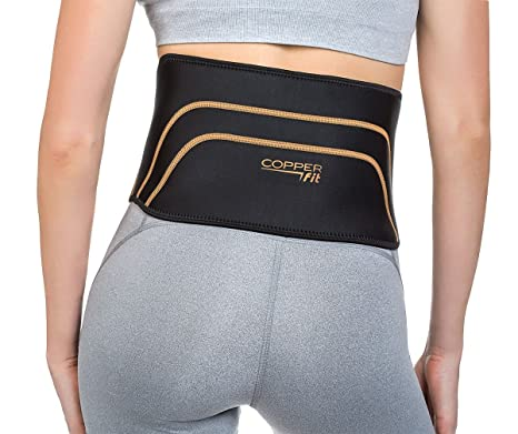 ca98207da7 Amazon.com: Copper Fit Back Pro Brace Lower Back Support Compression Belt  Size S/M 28