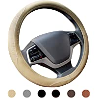 Ylife Microfiber Leather Car Steering Wheel Cover, Universal 15 inch Breathable Anti Slip Auto Steering Wheel Covers…