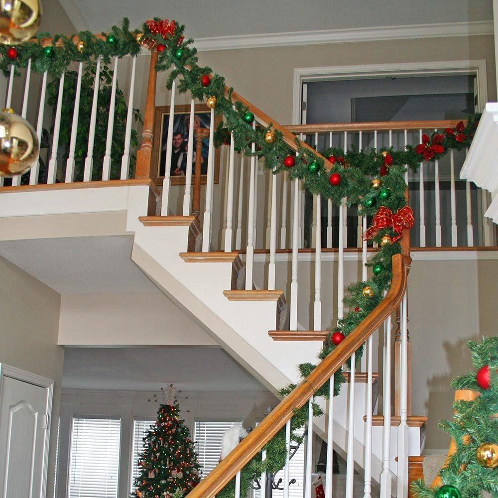 YQing 5.5 M Decoraciones de Navidad Guirnalda, 2 Piezas Navidad Pino Abeto Guirnalda Artificial Guirnalda Larga Verde Guirnalda Llana Festiva para chimeneas, Escalera, decoración de árbol de Navidad: Amazon.es: Hogar