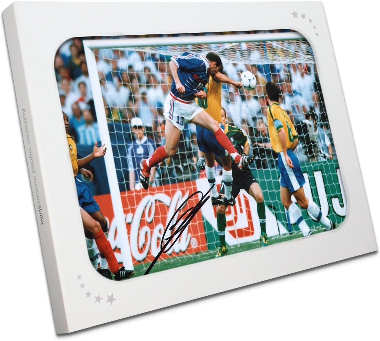 Zinedine Zidane Firmado Francia Photo: Copa Mundial de puerta. En la caja de regalo: Amazon.es: Deportes y aire libre