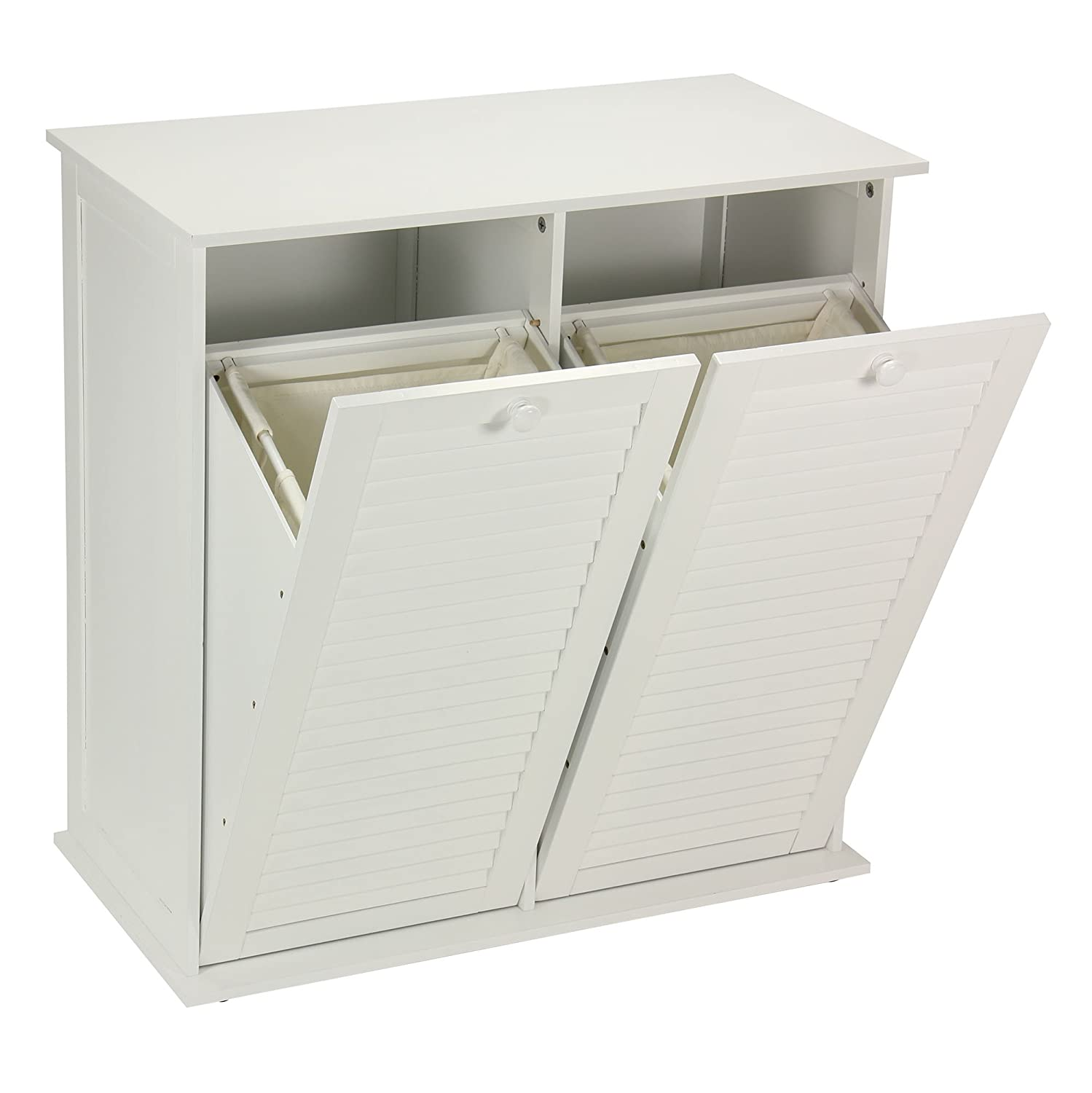Amazon: Household Essentials Tiltout Laundry Sorter Cabinet With  Shutter Front: Home & Kitchen
