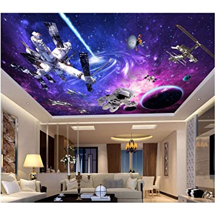 Amazon Com Amazhen Custom 3d Ceiling Murals Wallpaper Space
