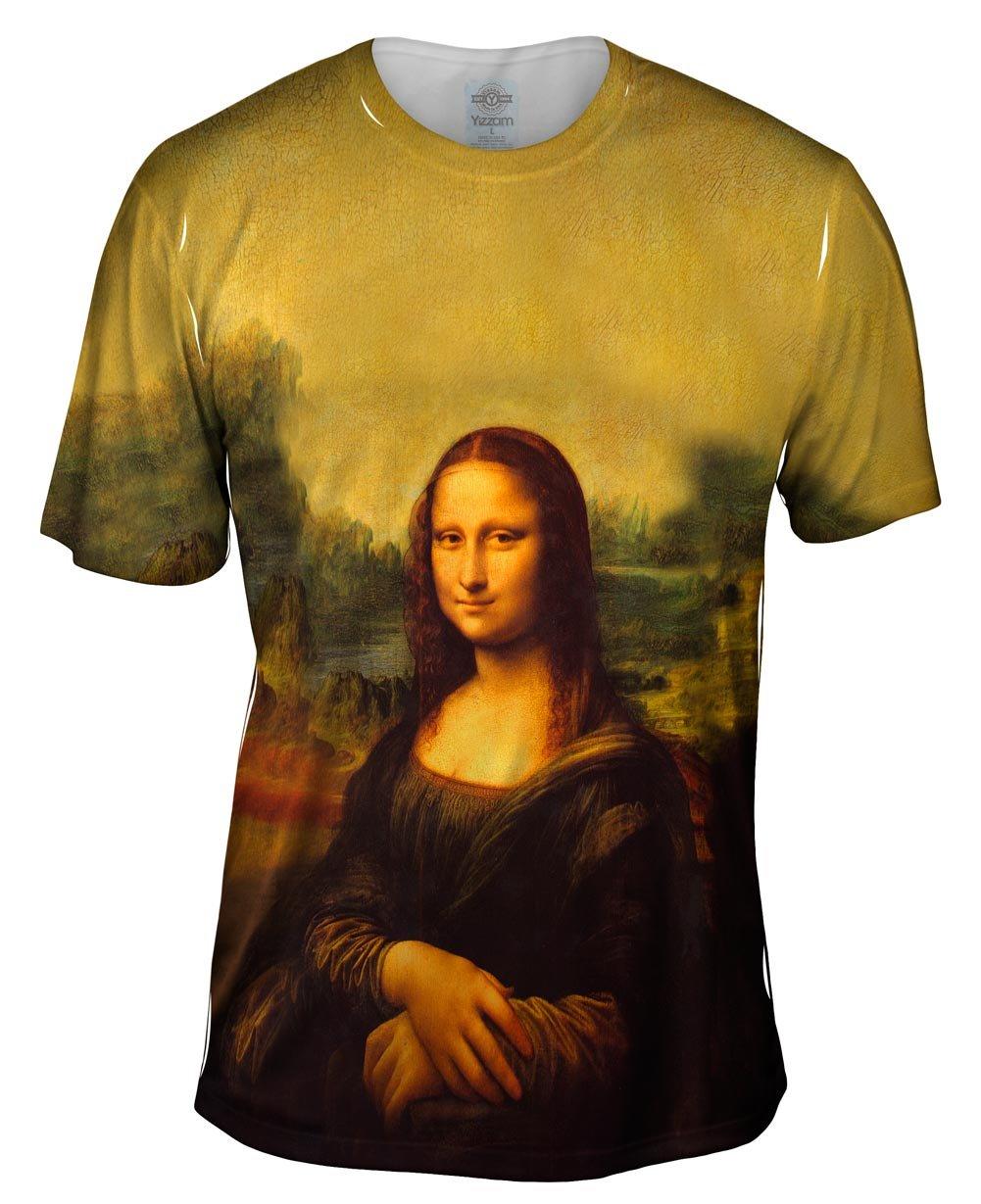 "ArtsyClothingCo- Leonardo da Vinci -""Mona Lisa"" (1503) -Tagless- Mens Shirt"