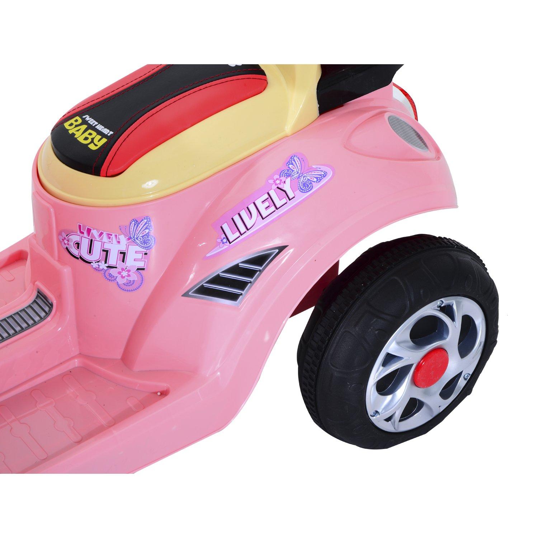 da543ec4bce38 Homcom Coche Triciclo Moto Eléctrica Infantil Correpasillos a Batería Niños  3-8 años Niños 3-8 ...