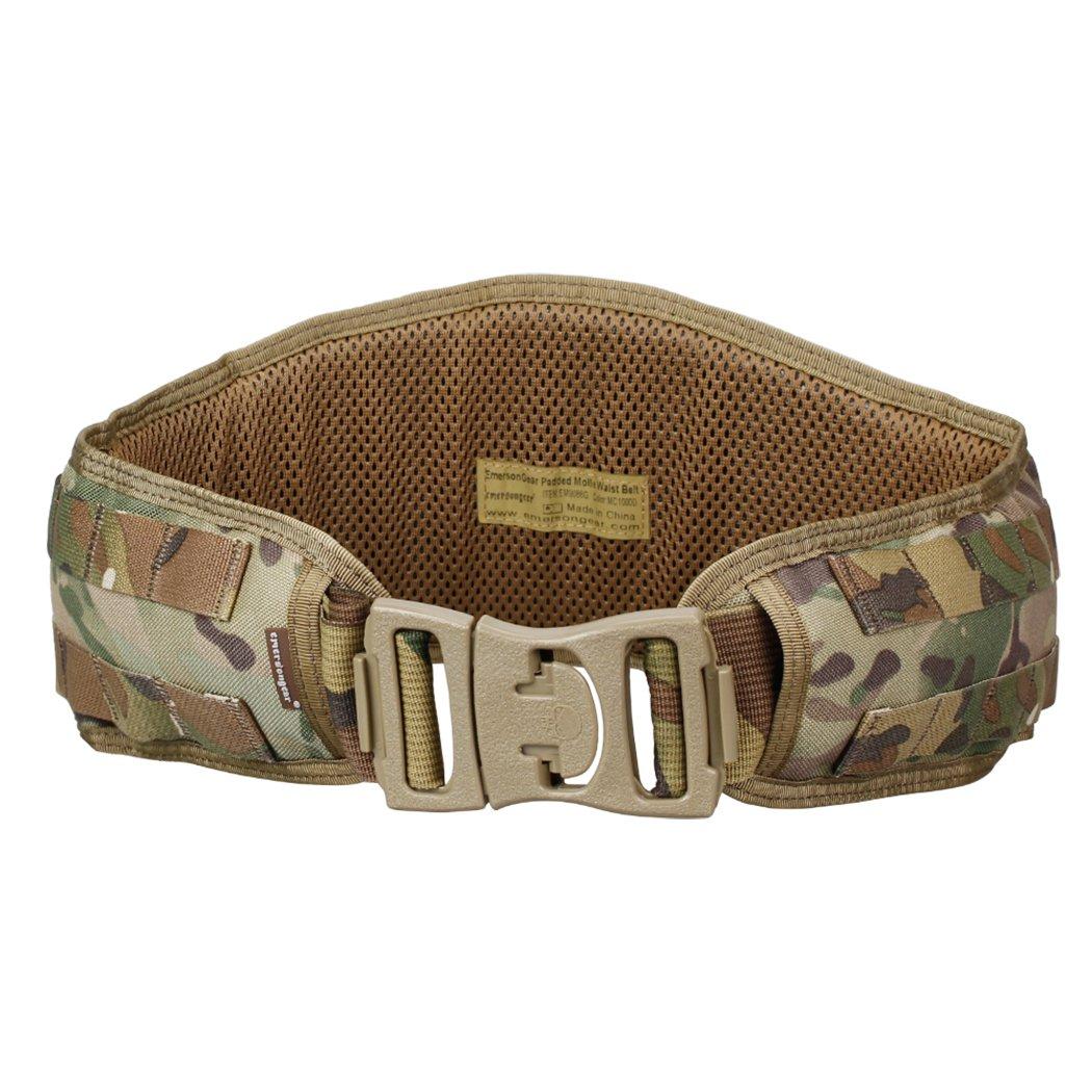 IDOGEAR Tactical Belt Padded Patrol Molle Battle Belt 1000D High Density Nylon Padded Combat Waist Belts Airsoft Hunting Shooting Outdoor Gear MultiCam