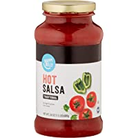 Amazon Brand - Happy Belly Traditional Hot Salsa, 24oz (Previously Solimo)