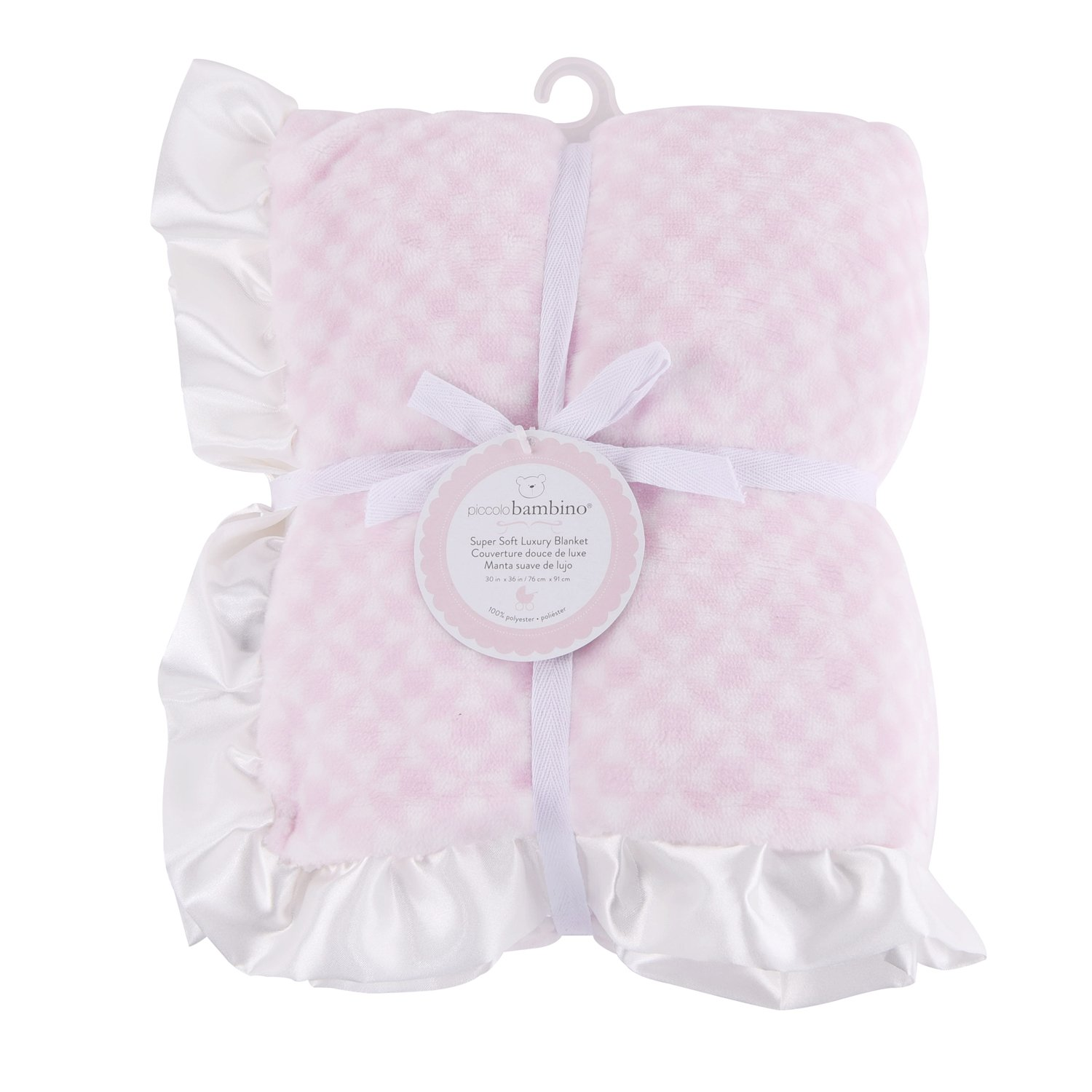 Piccolo Bambino - Super Soft Luxury Blanket with White Satin Border, Blue Abond Group Inc.