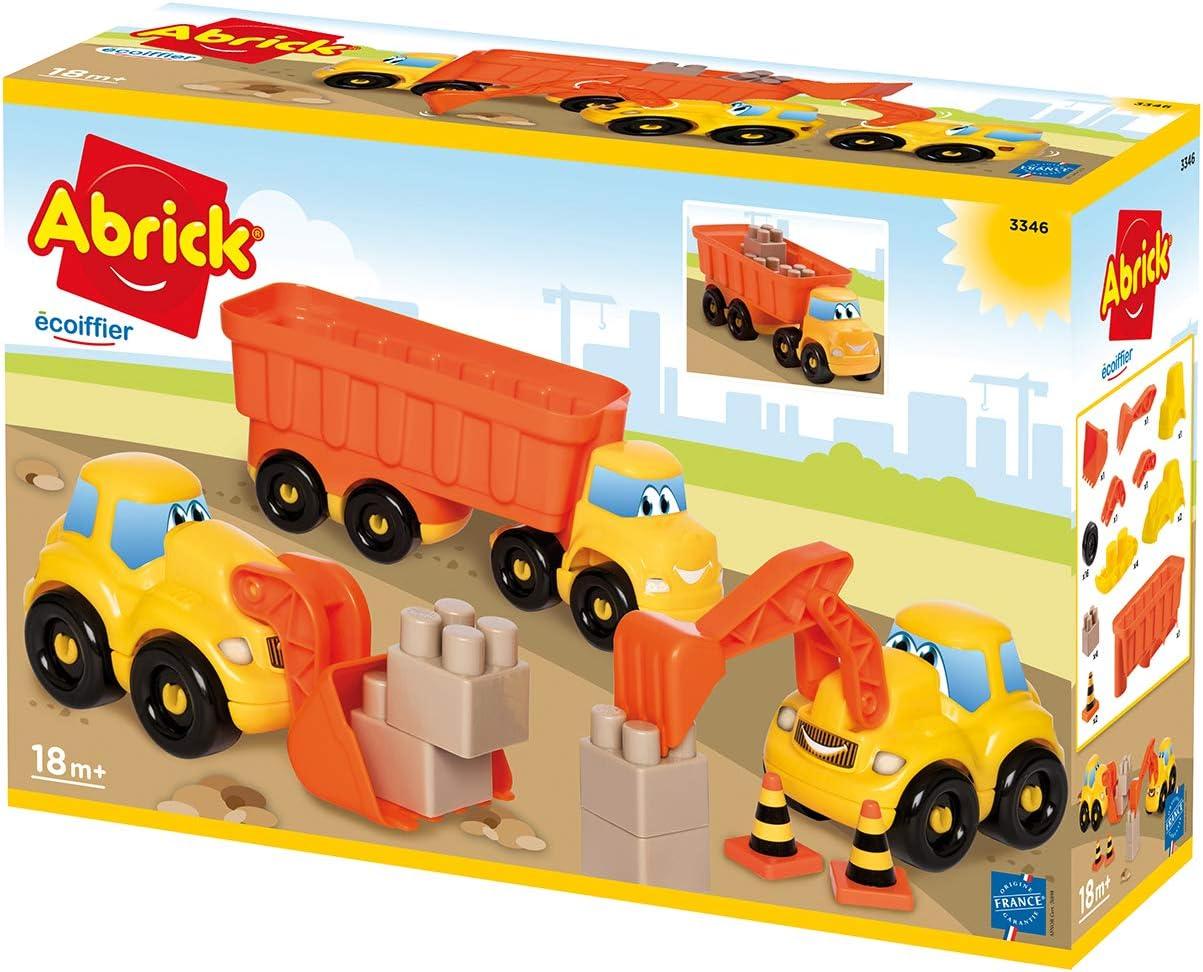 Coffret véhicule de chantier Ecoiffier en promotion