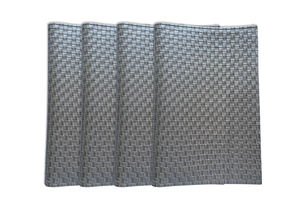Wintop Faux Leather Placemat, 13''X18'', Set of 4, Nickel by Wintop Group (Image #4)