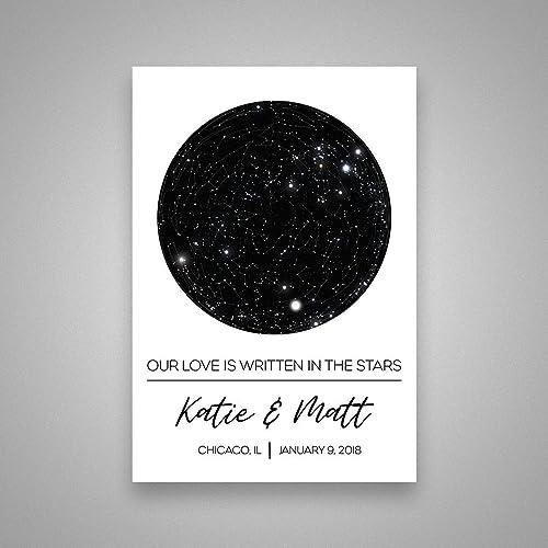 Amazon Custom Personalized Star Constellation Map Star Chart
