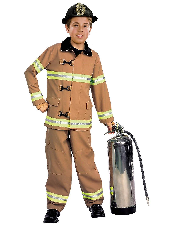 Amazon.com: Jovenes héroes disfraz de bombero para ...