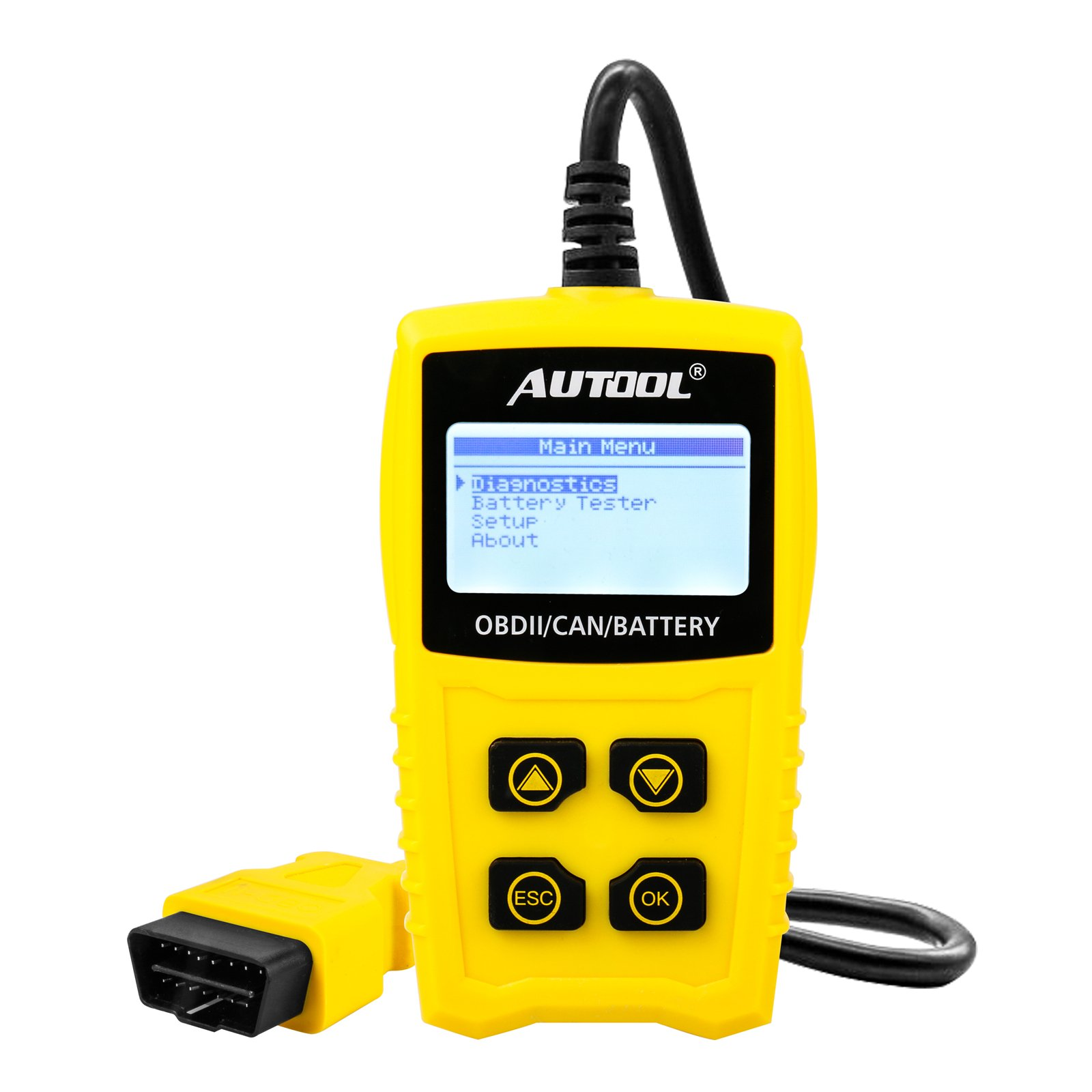 AUTOOL OBD2/EOBD Code Reader, CS330 Automative Diagnostic Code Scanner with Voltage Meter Car Engine Fault Code Reader with I/M Readiness for CAN OBD 12V SUV/Car/Van by AUTOOL (Image #1)