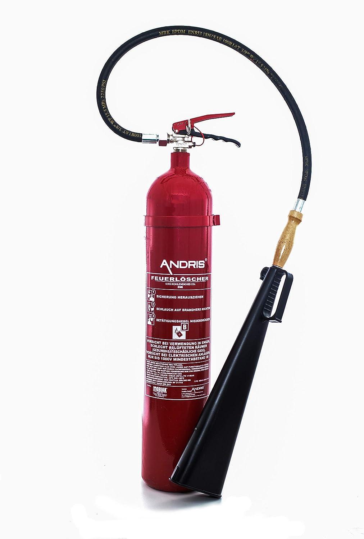 Extintor 5 kg Co² dióxido EDV Adecuado DIN EN 3 Incluye ...