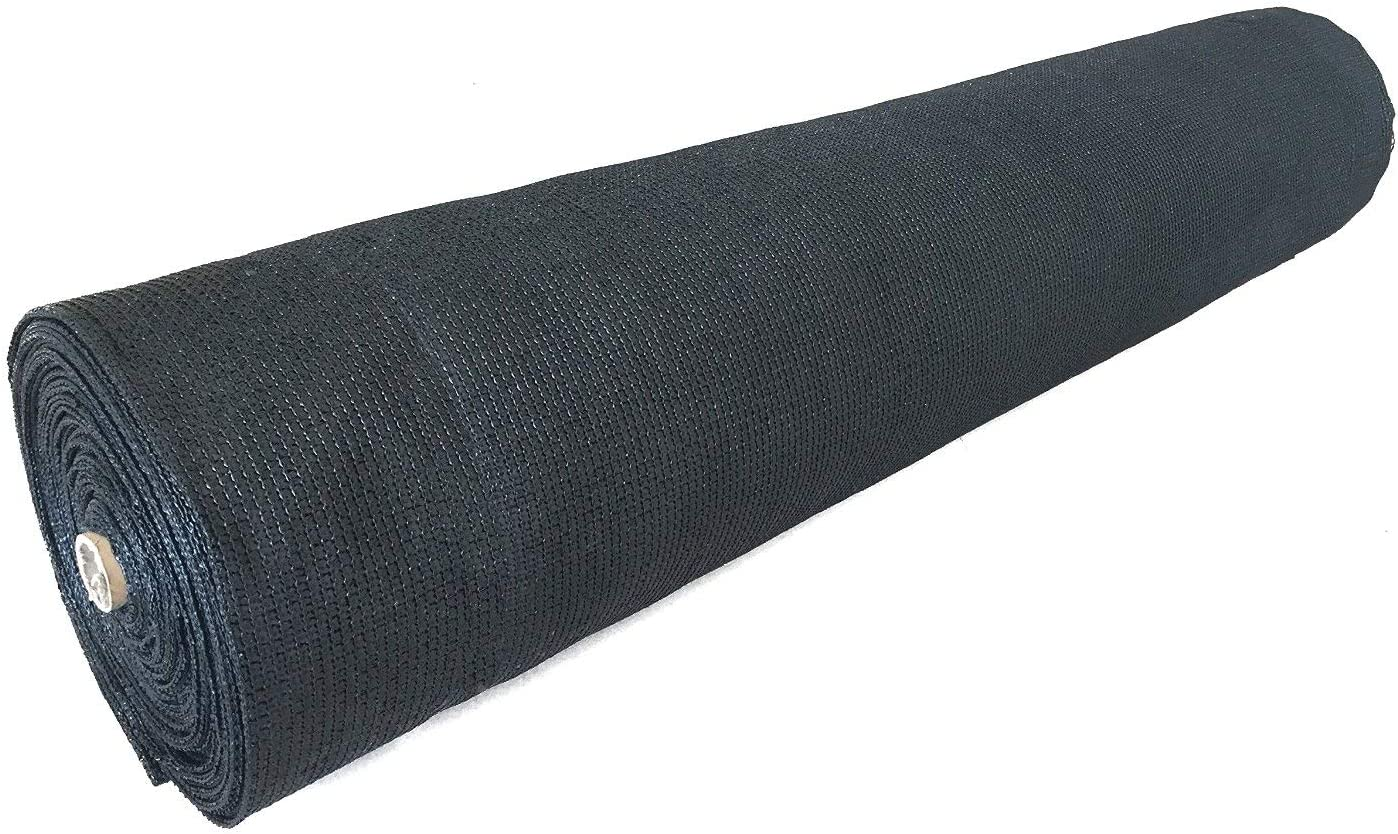 Ecover 50% Shade Cloth Sunblock Fabric Cut Edge with Free Cilps UV Resistant for Garden Plants Cover, Black, 6 x 12ft
