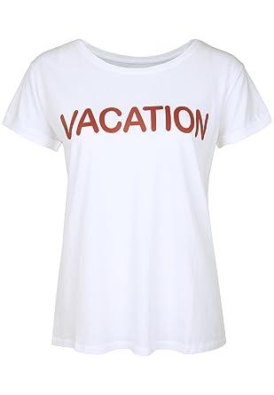 Juvia Vacation Ärmel Shirt Umgeschlagene T Damen Bekleidung z6wqtrzx