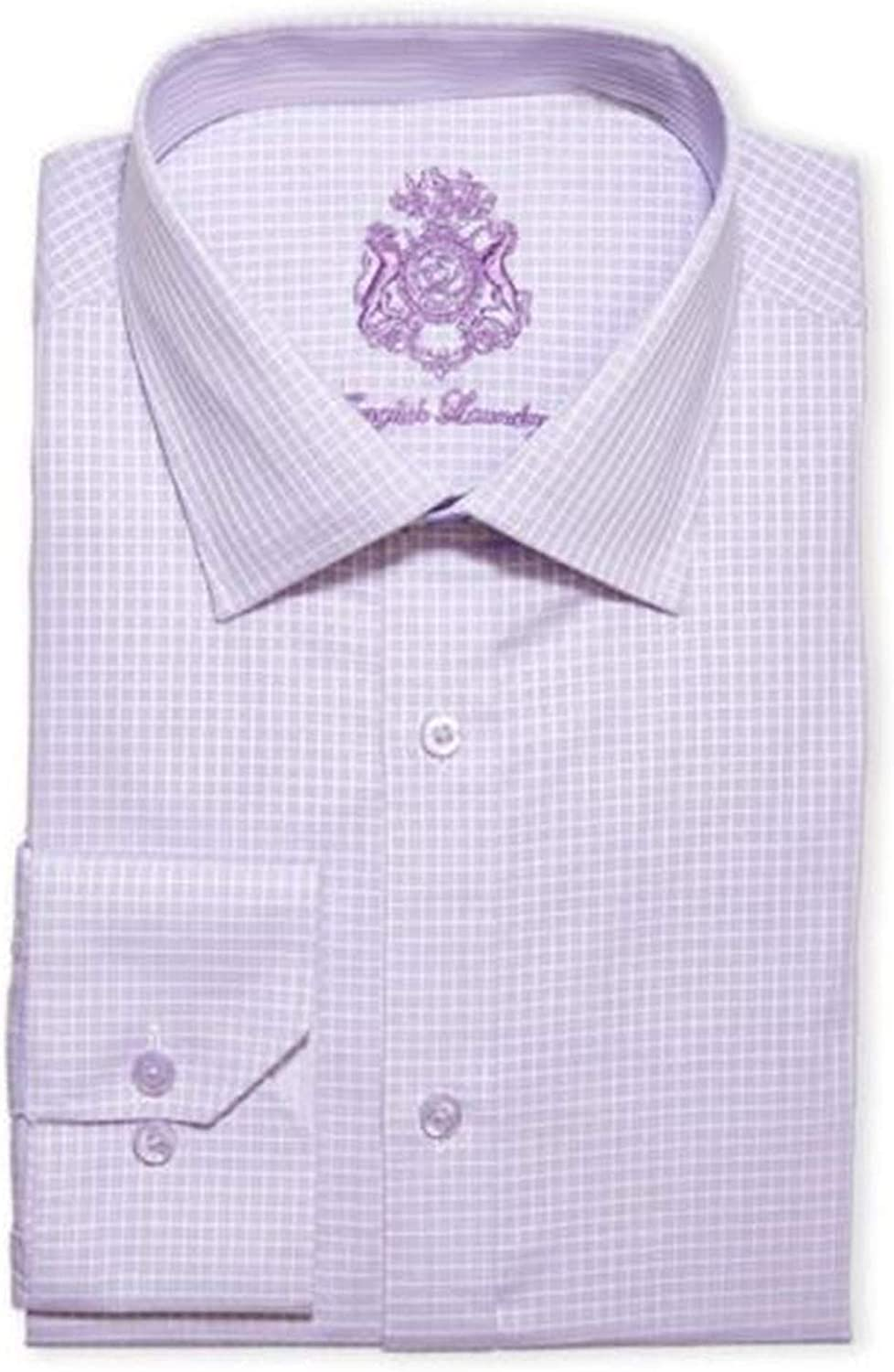 English Laundry Men's Dress Shirt Stretch Cotton