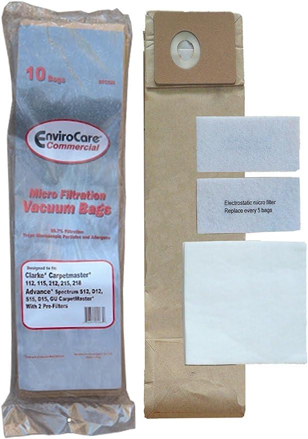 10 Vacuum Cleaner Bags For Nilfisk Advance GD 1000 CDF Series CDB Series