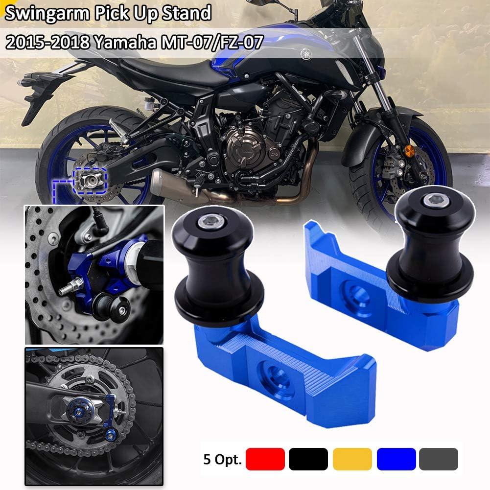 Amazon Com Fatexpress Motorcycle Cnc Aluminum Rear Wheel Fork Axle Slider Swingarm Stand Pick Up For 2015 2016 2017 2018 Yamaha Fz Mt 07 Fz 07 Mt 07 Fz07 Mt07 Motorbike Accessories 15 18 Blue Automotive