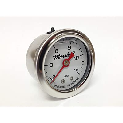 CW00015 Liquid Filled Fuel Pressure Gauge: Automotive