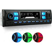 XOMAX XM-RSU255BT Autoradio avec RDS I Bluetooth Main Libre I USB, SD, AUX I 3 Couleurs réglables : Rouge, Bleu, Vert I 1 DIN