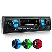 XOMAX XM-RSU255BT Autoradio mit Bluetooth Freisprecheinrichtung, RDS FM AM Radio Tuner, 3 Farben einstellbar, USB, SD, MP3, AUX-IN, 1 DIN
