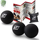RitFit Peanut Massage Lacrosse Ball for Myofascial Release, Trigger Point Therapy, Muscle Knots, and Yoga Therapy. Bonus Single Massage Ball